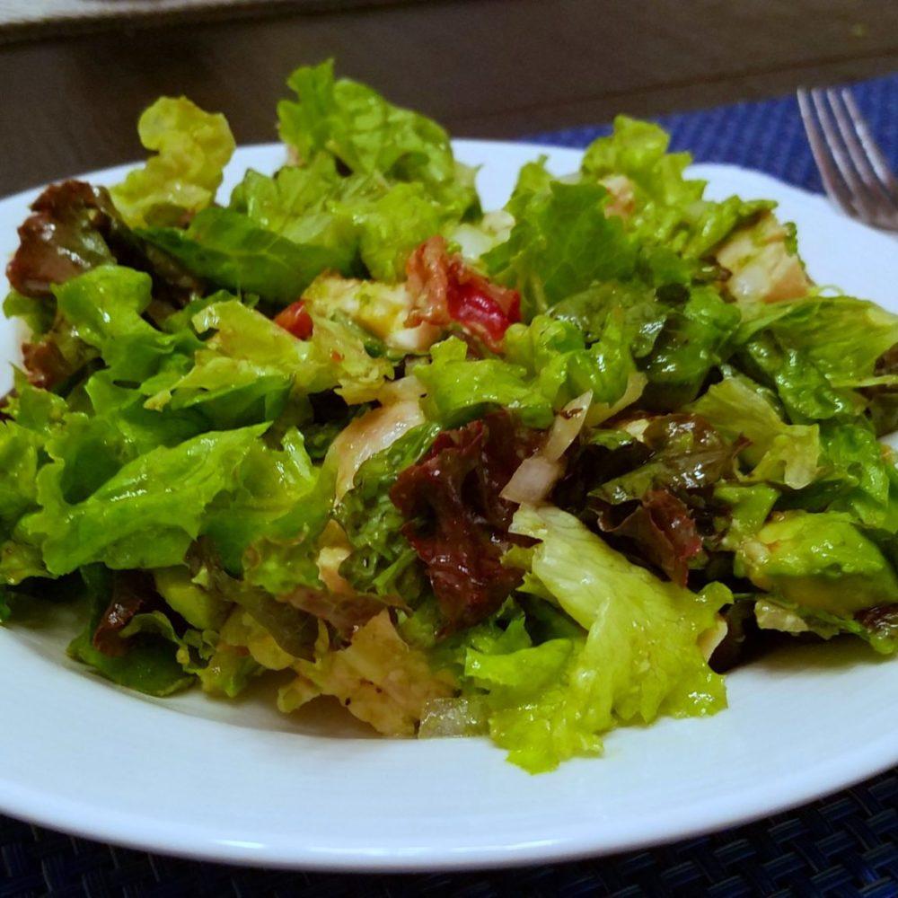 Chicken Avocado Salad - Chicken, bacon, onion, cilantro, avocado - a delicious combination of flavors!