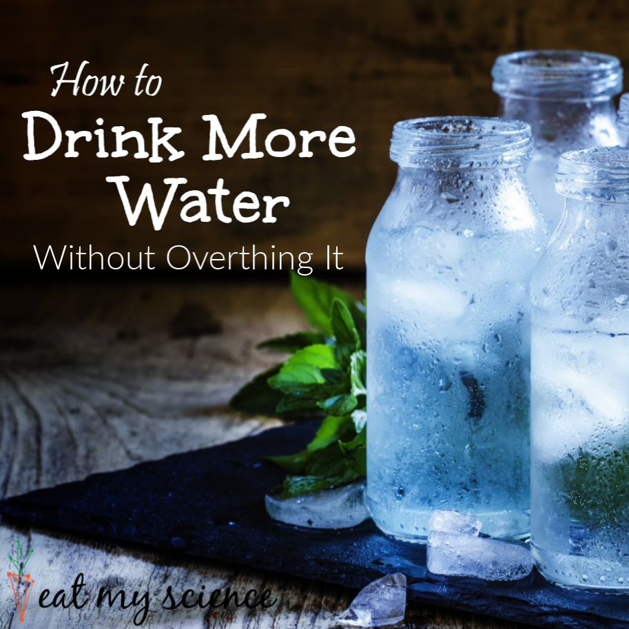 4 Easy tips to drink more water without overthinking it.